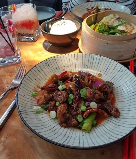 sweet chilli beef tattu