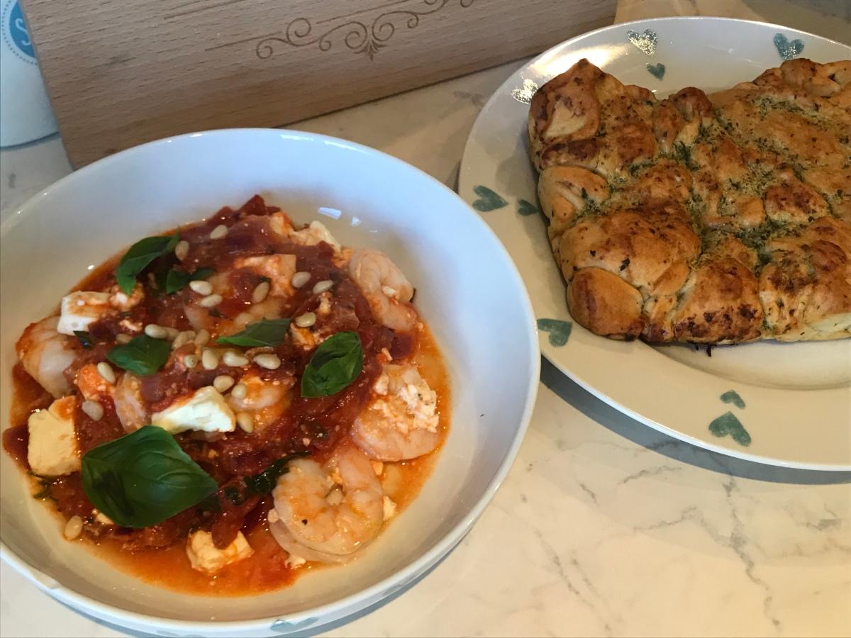 Greek Baked Prawns Jen S Food Blog